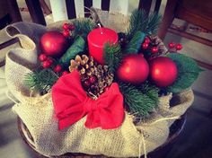Traditional Christmas Centerpiece..