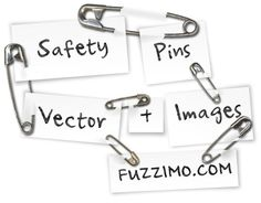 a variety of safety pins