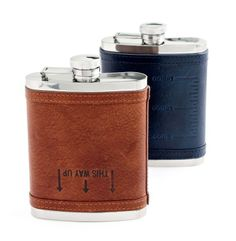 Holiday Gift Guide | For Him: J.Crew leather flask.