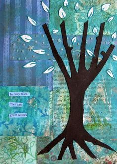 Tree Collage Art ... Trees Can Grant Wishes
