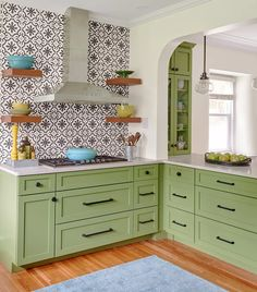 By swapping spaces, a couple gain a bright, welcoming kitchen all set for get-togethers. See all the little details of this stunning Tudor Revival kitchen remodel. Cookbook Shelf, Unusual Homes, Cabinet Styles, Small Sitting Areas, Old Kitchen, Old Houses, Kitchen, Tudor Style Homes, Victorian Interiors
