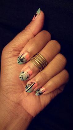 Summer tribal nails