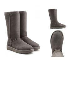 | #UGG #Australia #Boots #Classic #Tall aus #Veloursleder #> #Grau #für #Damen