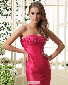 Empire Strapless Floor Length Taffeta Bridesmaid Dress $128.36