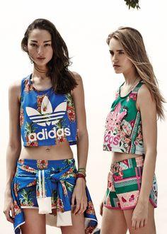 adidas x farm #MALHAS #florais #tropical