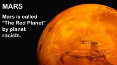 """""""9 Cool Facts About The Planets"""": http://fakescience.org/9-cool-facts-about-the-planets/ #Mars #science"""