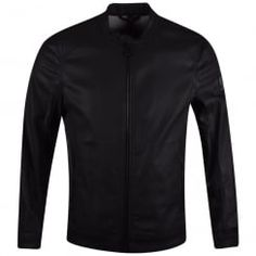 Belstaff Black Waxed Gransdale Bomber Jacket. Available now at www.brother2brother.co.uk