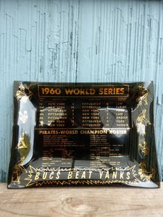 1960 World Series souvenir baseball tray, Pittsburgh Pirates beat New York Yankees by OatesGeneral on Etsy https://www.etsy.com/listing/489761563/1960-world-series-souvenir-baseball-tray