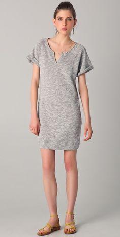 C&c California Short Sleeve Terry Sweatshirt Dress thestylecure.com