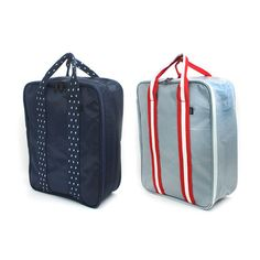 New Simple Travel Cross Bag Carrier Luggage 36cm 14in 2 Color Navy Grey…