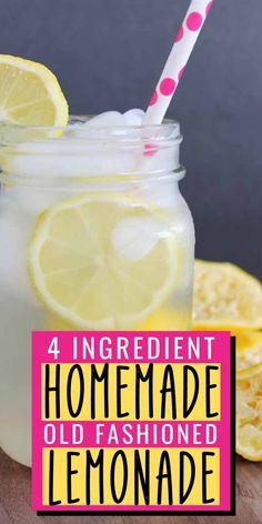 Cocktail Recipes, Drink Recipes, My Recipes, Cocktails, Cooking Recipes, Favorite Recipes, Homeade Lemonade, Old Fashioned Homemade Lemonade, Cocktail