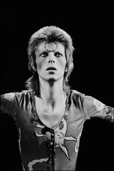 David Bowie 1976 photo by Chalkie Davies