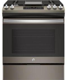 GE Slate Series 30 Inch Slide-in Gas Range with Sealed Burner Cooktop, cu. Primary Oven Capacity, in Slate Slide In Range, Star K, Steam Cleaning, Ada Compliant, Home Repairs, Griddles, Storage Drawers, Slate, Oven