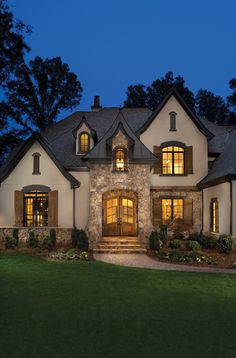 Single Story Home Exterior cottage style single story home exterior | french country style