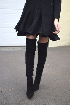 5 Ways To Style Over The Knee Boots — Shot From The Street
