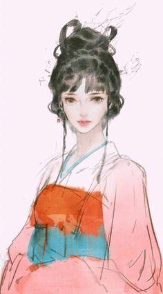 Artwork Gallery Cool Art Drawings, Art Sketches, Chinese Artwork, Princess Drawings, Arte Disney, Beautiful Artwork, Simple Artwork, Realistic Paintings, Hanfu