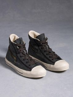 bae76c7cb736df Graphite Painted Canvas High Top by the John Varvatos Converse Collection  John Varvatos Converse