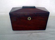 Victorian Sarcophagus Mahogany Veneer Two by WhiteheadandLongley, $200.00