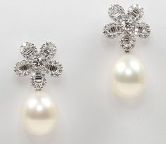 Assael South Sea Pearl and Diamond Earrings