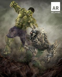 #Hulk #Fan #Art. (Taking All Bets! Hulk vs Doomsday) By: Art Roman. ÅWESOMENESS!!!™ ÅÅÅ+
