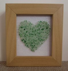 Fused Glass 3-D effect Speckled Green/Cream Heart by HighlandHeartDesign on Etsy