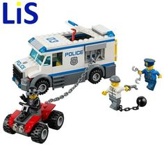 Lis bela 10418 2016 198pcs City Police Prisoner Transporter Building Blocks Mini Doll Toys S243 Lepin