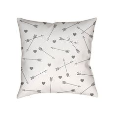 Love Arrows Throw Pillow - Surya : Target ($18) ❤ liked on Polyvore featuring home, home decor, throw pillows, target throw pillows, arrow throw pillow, surya, target toss pillows and arrow home decor