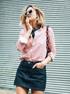 The Color Combo French It Girls Always Wear via. Petit foulard. /WhoWhatWear/