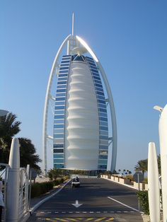 The Burj al Arab Hotel in Dubai, UAE
