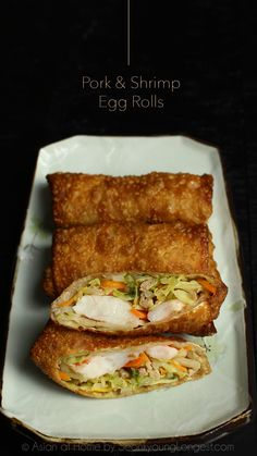 Pork and Shrimp Egg Rolls Recipe & Video - Seonkyoung Longest - - Jump to Recipe·Print Recipe Hi guys! The weather is already getting hot in California! I love spring and summer, so I'm fully enjoying this beautiful weather, flowers and nature lately…. Egg Roll Recipes, Pork Recipes, Asian Recipes, Cooking Recipes, Cheap Recipes, Chinese Recipes, Shrimp Egg Rolls, Pork Egg Rolls, Seonkyoung Longest
