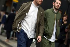 Note to self: Buy a summer bomber jacket. #refinery29 http://www.refinery29.com/london-mens-fashion#slide-2