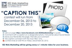 IED Web Marketing will be giving away a 1-minute video for your business. #contest #socialmedia