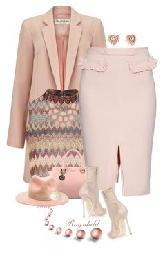 """""""Pink Pencil Skirt"""" by ragnh-mjos ❤ liked on Polyvore featuring Miss Selfridge, Glamorous, Altuzarra, rag & bone, Dsquared2, Michael Kors, women's clothing, women, female and woman"""