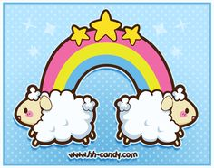 Rainbow Sheepies Charm Design by A-Little-Kitty on DeviantArt