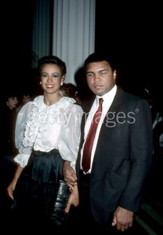 Muhammad Ali and then third wife, Veronica Porsche