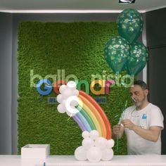 Balloon Arch Diy, Balloon Crafts, Balloon Flowers, Balloon Bouquet, Rainbow Party Decorations, Birthday Balloon Decorations, Birthday Balloons, Deco Ballon, Rainbow Balloons