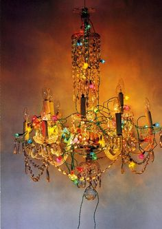 boho light. Maybe find that throw away chandelier and jazz it up with all the campy cheap beads and jewelry you can find?