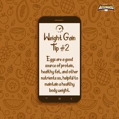 Accumass comes here with 2nd weight gain tip for you! Eat 2-3 eggs to maintain a good health and an accurate body weight. Eggs are rich in nutrients, high quality protein and omega-3s, keeps your body energetic.  #Accumass #WeightGain #WeightGainer #WeightGainTip #Health #HealthyLife #HealthyLifestyle #StayFit #HealthandWellness #WeightGainPlan #AyurvedicWeightGainer Weight Gain Plan, Weight Gain Journey, Healthy Body Weight, Healthy Fats, Weight Gain Supplements, Good Sources Of Protein, Nutritious Breakfast, Stay Fit, How To Stay Healthy