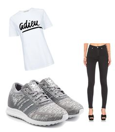 """""""Sporty simple"""" by kanyaneeh on Polyvore featuring adidas Originals, Cheap Monday and Être Cécile"""