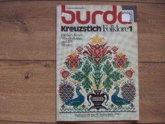 Vintage 1972 point de croix broderie livre Burda Kreuzstich Folklore 1 M 2018 D en allemand