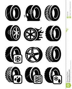 tyre-icons-vector-black-set-gray-33531596.jpg (1049×1300)