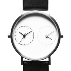 Long Distance 1.0 (silver) watch by Kitmen Keung. Available at Dezeen Watch Store: www.dezeenwatchstore.com