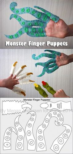 These monster puppets are too adorable to be real! Make these severed fingers from a yeti, ogre, and a sea monster while teaching the kids basic crafting skills like simple sewing. Frightfully friendly!