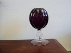 Cambridge Keyhole Amethyst Ivy Ball Vase by valeriesvintagehome, $30.00