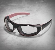 See the world from a new lens in H-D Performance eye wear by Wiley X. These feature loaded light adjusting glasses look great. | Harley-Davidson Women's Curve LA Light Adjusting Smoke Performance Glasses