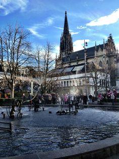 Fasnachts-Brunnen or Tinguely-Brunnen by Jean Tinguely, near Elisabethenkirche, Basel, Switzerland