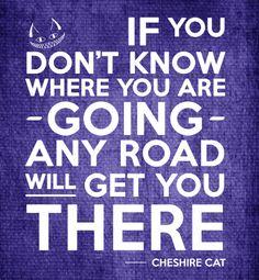 Se você não sabe onde esta indo, qualquer caminho vai te levar lá...