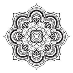 Coloring Pages Mandala Simple Mandala to Free Simple Flower Simple Mandalas Mandala Art, Mandala Design, Easy Mandala Drawing, Design Lotus, Mandalas Painting, Mandalas Drawing, Mandala Tattoo, Design Art, Mandala Doodle