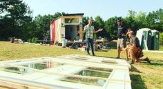 Joe Everson of #tntinyhomes, @johnkweisbarth and @zackgiffin discussing the use of two #frenchdoors in the @tiny.housenation pop up shop. #tinyhomes #tinyhouse #tinyhome #tinyhouseliving #tinyhouseonwheels #tinyhousemovement #tinyhouseswoon #tinyhousepeople #tinyhomeenthusiasts #tinyhousedesign #tinyhomedecor #compactliving #simpleliving #simplelife #custom #lessismore #homeiswhereyouparkit #interior #interiordesign #exterior #exteriordesign #design #details #decor