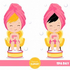 70% OFF SALE Spa girl clipart Spa party Spa by PremiumClipart